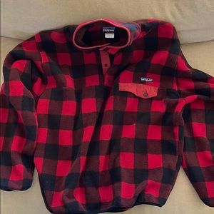 Patagonia Synchilla - Red Checkered Large